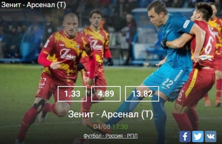 Зенит — Арсенал