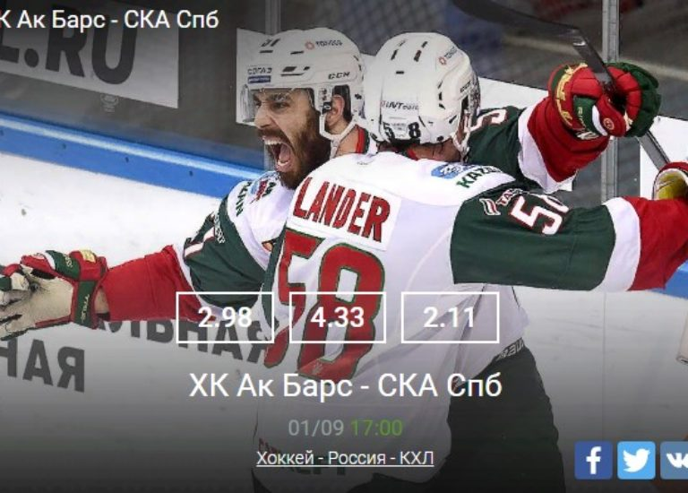ХК Ак Барс — СКА Спб