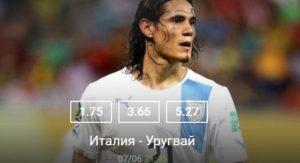 Италия - Уругвай: 7 июня 2017