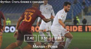 Чемпионат Италии. Рома - МиланСпорт, ставки