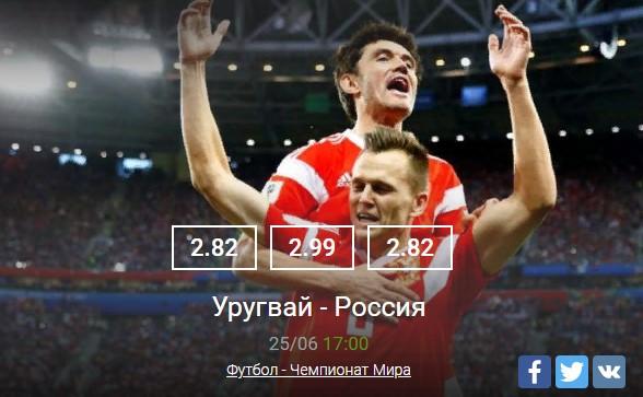 Россия-УругвайСпорт, ставки