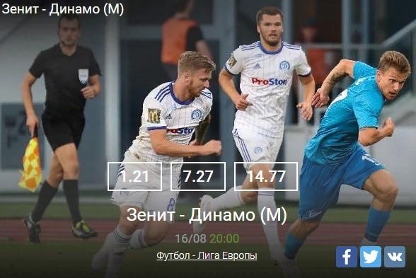 Зенит - Динамо Минск
