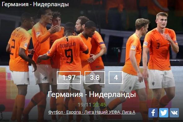 Футбол - Европа - Лига НацийСпорт, ставки