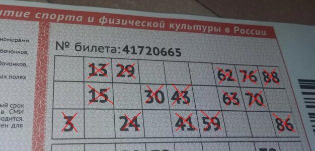 Билет на 500 000 000 рублейСпорт, ставки