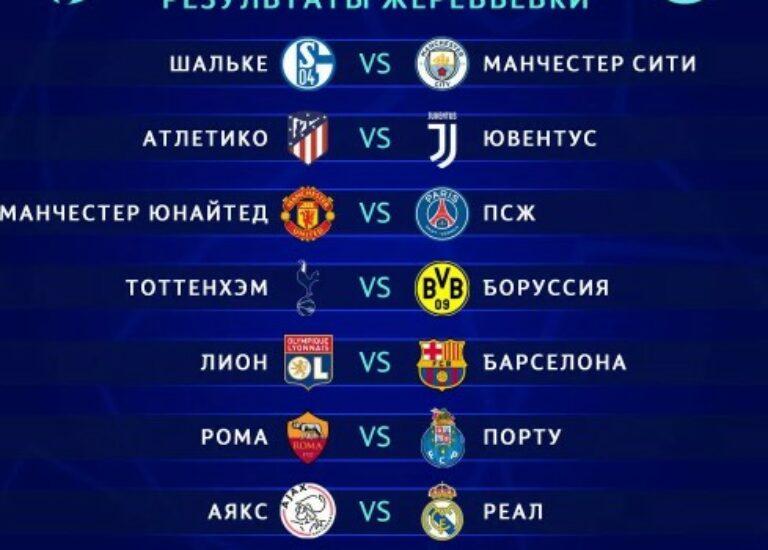 Прогноз на плей-офф Лиги чемпионов 1/8 финала