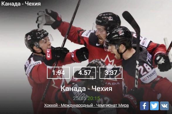 Хоккей - Международный - Чемпионат МираСпорт, ставки