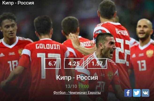 Прогноз на матч Кипр – Россия
