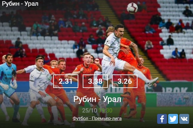 Прогноз на матч Рубин – УралСпорт, ставки