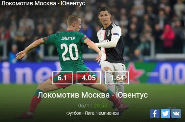 Прогноз на матч Локомотив – Ювентус