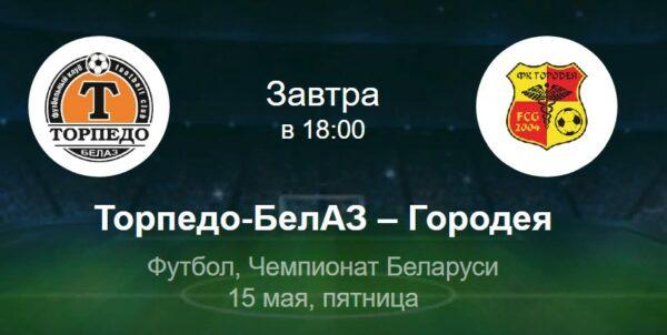 Торпедо-Белаз - Городея прогноз на матчСпорт, ставки