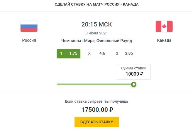 Россия-Канада ставки на хоккейСпорт, ставки